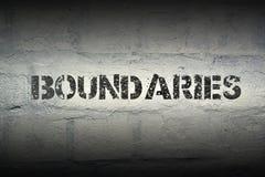 Boundaries WORD GR Stock Images