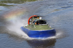 Boundary boat. On an air cushion Stock Images