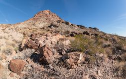 Boundary Cone in Arizona. Boundary Cone, landmark peak in the Black Mountains of western Arizona royalty free stock photography