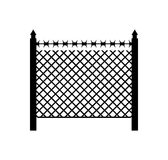 Boundary fence with barbed wire. Border Protection. Protections.  Royalty Free Stock Photography
