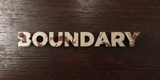 Boundary - grungy wooden headline on Maple  - 3D rendered royalty free stock image Royalty Free Stock Photo
