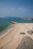 Boundary Island Lingshui Gold Beach Royalty Free Stock Photos