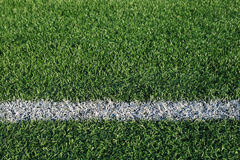 Boundary line. On an artificial turf athletic field stock photo