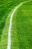 Boundary line on a cricket field Stock Photo