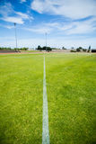 Boundary line of a playing field Royalty Free Stock Image
