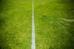 Boundary line of a playing field Stock Image