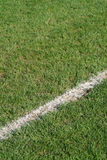 Boundary line soccer field. Boundary line on a soccer field stock images