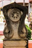 Boundary marker of a temple Stock Image