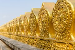 Boundary marker of Thai temple royalty free stock image