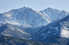 Boundary Peak. At 13140 ft is the highest point in Nevada with some snow and Mount Montgomery stock images