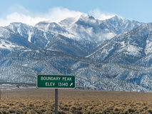 Boundary Peak, tallest peak in Nevada Stock Photography