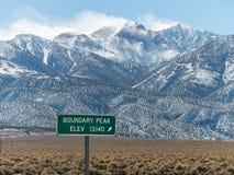 Boundary Peak, tallest peak in Nevada Stock Photography
