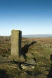 Boundary Post on Ilkley Moor Stock Image
