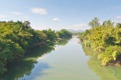 The boundary river Royalty Free Stock Photo