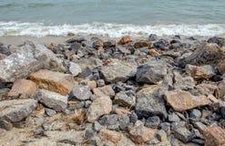 Boundary sea big rock Stock Photos