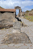 Boundary stone of the ancient city of Pompeii Stock Photos