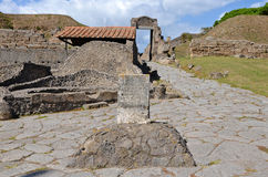 Boundary stone of the ancient city of Pompeii Royalty Free Stock Photos