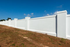 Boundary Wall White Stock Images