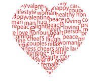 Bounded heart Royalty Free Stock Photo