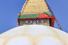 Boundhnath (Boudha) stupa,加德满都,尼泊尔 免版税库存照片