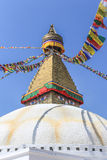 Boundhnath (Boudha) stupa, Kathmandu, Nepal. Boudhanath stupa is an important religious site and a UNESCO world heritage site located in Kathmandu Royalty Free Stock Photo