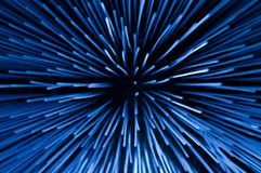 Boundless cosmic ray. Blue and unusual royalty free stock photography