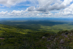 Boundless expanse. view from mountains. Chiquitania. Bolivia Royalty Free Stock Images