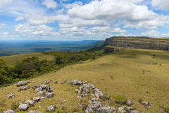 Boundless expanse. view from mountains. Chiquitania. Bolivia Stock Image