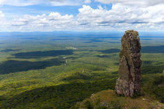 Boundless expanse. view from mountains. Chiquitania. Bolivia Royalty Free Stock Image