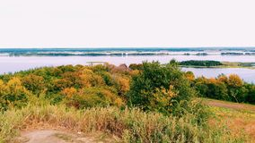 Boundless expanses of nature of Ukraine, the Dnieper River.  Stock Photo