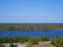 Boundless expanses of nature of Ukraine, the Dnieper River.  Stock Photos