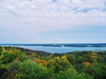 Boundless expanses of nature of Ukraine, the Dnieper River.  Royalty Free Stock Images