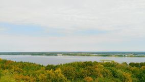 Boundless expanses of nature of Ukraine, the Dnieper River.  Stock Photography