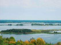 Boundless expanses of nature of Ukraine, the Dnieper River.  Royalty Free Stock Photography