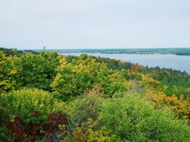 Boundless expanses of nature of Ukraine, the Dnieper River.  Stock Image