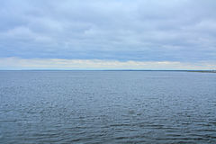 Boundless Ladoga Lake at Fortress Oreshek near Shlisselburg, Russia Royalty Free Stock Images