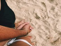 Boundless Love!. Love is in air,  on sea,  on sand and in Us Stock Photography