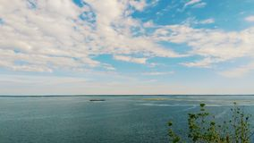 Boundless water spaces of the Dnieper River in Ukraine.  Royalty Free Stock Photos