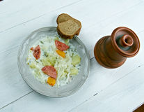 Bouneschlupp - traditional Luxemburgish soup with potatoes, bacon, and ...