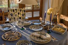 Bountiful table. Still life of a bountiful table Royalty Free Stock Photo