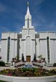 Bountiful Utah Mormon Temple. Image of the Bountiful, Utah Mormon Temple w/ flowers in the foreground Stock Photo