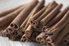 Bounty cinnamon on a tray Royalty Free Stock Photography