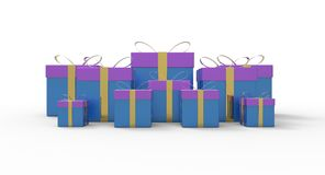 Bounty of gift boxes Royalty Free Stock Photo