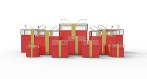 Bounty of gift boxes Royalty Free Stock Image