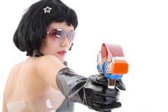 Bounty Hunter Girl Royalty Free Stock Image