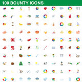 100 bounty icons set, cartoon style. 100 bounty icons set in cartoon style for any design vector illustration Royalty Free Stock Images