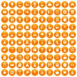 100 bounty icons set orange. 100 bounty icons set in orange circle isolated vector illustration Vector Illustration