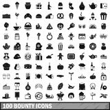 100 bounty icons set, simple style. 100 bounty icons set in simple style for any design vector illustration royalty free illustration