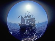 The Bounty sailing at the Olympic Art Festival in Redondo Beach, California Royalty Free Stock Photo