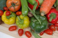 BOUNTY OF VEGETABLES. Ripe vegetables spill forth.Italian vegetables Royalty Free Stock Photo